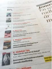 """""""Den som är värd att bli älskad"""" på DN:s boklista"""